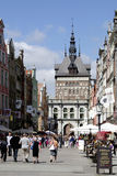 Золотой строб Гданьска в Польше Стоковые Изображения