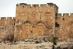 Золотой строб. Иерусалим, Израиль. Стоковые Изображения