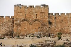 Золотой строб. Иерусалим, Израиль. Стоковое Фото