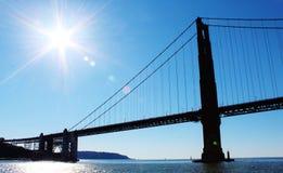 Золотой строб моста Стоковое фото RF