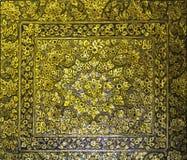 Золотой тайский стиль искусства стоковые фотографии rf