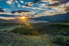 Золотой луч солнца Стоковое Изображение
