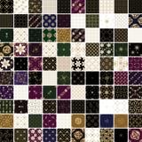 Золотой цветок 100 и геометрический комплект картины Стоковая Фотография RF
