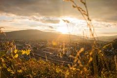 Золотой час города Стоковая Фотография RF