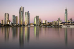 Золотой час на Gold Coast Стоковые Изображения RF