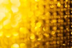 Золотой яркий блеск и звезды для предпосылки рождества Стоковое Изображение RF
