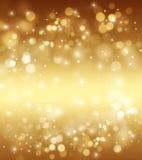 Золотой яркий блеск и звезды Стоковое Фото