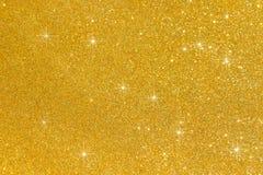 Золотой яркий блеск для текстуры или предпосылки Стоковая Фотография RF