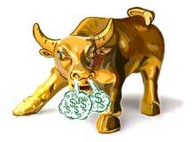 Золотой Bull Стоковая Фотография