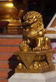 Золотой leo (китайский стиль) Стоковые Фотографии RF