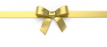 Золотой silk смычок Стоковое Изображение RF