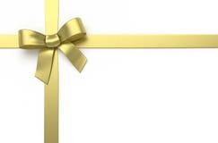 Золотой silk смычок Стоковые Фото