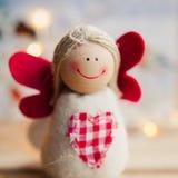Золото ангела рождества красное Стоковое Изображение