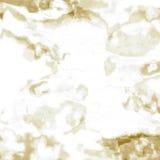 Золото Брайн мраморной плитки белое Стоковая Фотография