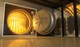 Золото в банке Стоковые Фото