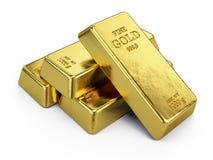Золото в слитках Стоковое Изображение