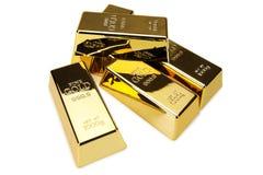 Золото в слитках и финансовая концепция Стоковое Изображение RF
