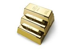 Золото в слитках и финансовая концепция стоковая фотография rf