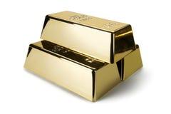 Золото в слитках и финансовая концепция стоковые изображения rf