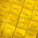 Золото в слитках стога стоковая фотография rf