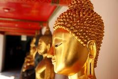 Золото головы Будды закрытое-вверх Стоковое Фото