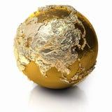 золото глобуса Азии бесплатная иллюстрация