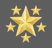Золото играет главные роли вектор, вектор звезды, классифицируя Стоковые Изображения