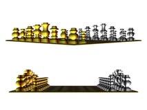 Золото и белый шахмат иллюстрация штока