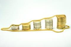 Золото и деньги Стоковые Фотографии RF