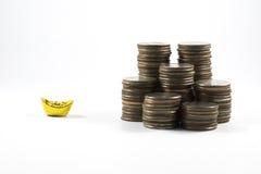 Золото и деньги стоковое фото