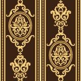 Золото и коричневая текстура в винтажном богатом королевском стиле иллюстрация штока