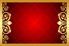 Золото и красная королевская рамка Стоковое фото RF