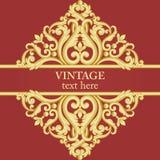 Золото и красная рамка в винтажном богатом королевском стиле бесплатная иллюстрация