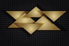Золото и предпосылка черноты абстрактная Стоковое Изображение