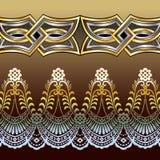 Золото и серебр картины шнурка Стоковые Изображения