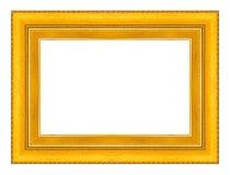 Золото картинной рамки изолированное на белой предпосылке Стоковое фото RF
