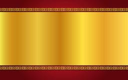 Золото китайского стиля и темнота - красная предпосылка Стоковые Изображения