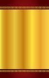 Золото китайского стиля и темнота - красная предпосылка Стоковая Фотография RF