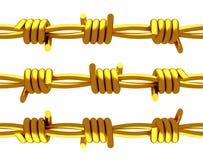 Золото- колючая проволока Стоковое Изображение