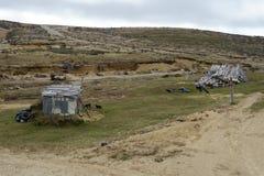 Золотодобывающий рудник на острове Огненной Земли Стоковые Изображения RF