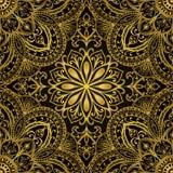 золото орнаментирует богатый вектор Стоковое Изображение