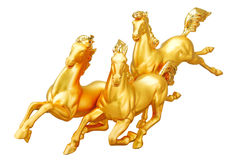 золото 3 лошадей стоковое фото