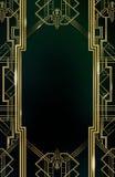 Золото предпосылки стиля Арт Деко Gatsby Стоковое Фото