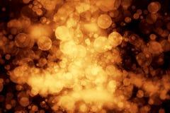 Золото предпосылки grunge Bokeh Стоковые Изображения