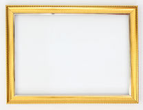 Золото рамки на белой предпосылке стоковые фото