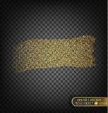 Золото сверкнает на прозрачной предпосылке Предпосылка золота с sparkles Стоковое Изображение