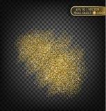 Золото сверкнает на прозрачной предпосылке Предпосылка золота с sparkles Стоковое Изображение RF