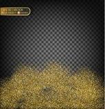 Золото сверкнает на прозрачной предпосылке Предпосылка золота с sparkles Стоковое фото RF