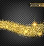 Золото сверкнает на прозрачной предпосылке Предпосылка золота с sparkles Стоковые Изображения