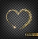 Золото сверкнает на прозрачной предпосылке Предпосылка золота с sparkles Стоковая Фотография RF
